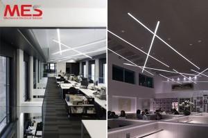 Đèn led thanh treo thả trần cho văn phòng