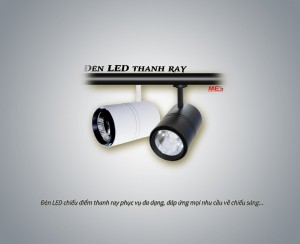 Đèn LED chiếu điểm thanh ray