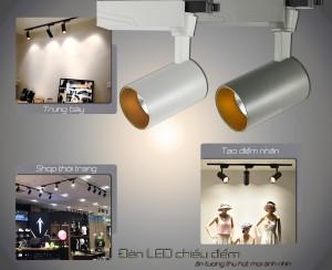 Đèn LED rọi ray nên sử dụng ở đâu?