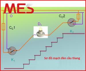 Hướng dẫn lắp mạch điện cầu thang đơn giản